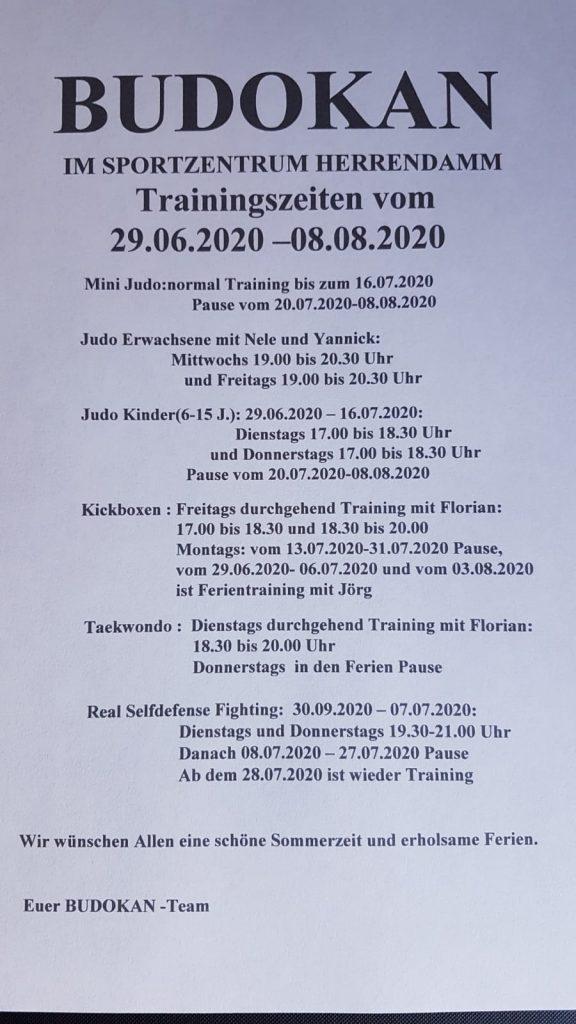 Budokan Luebeck Öffnungszeiten